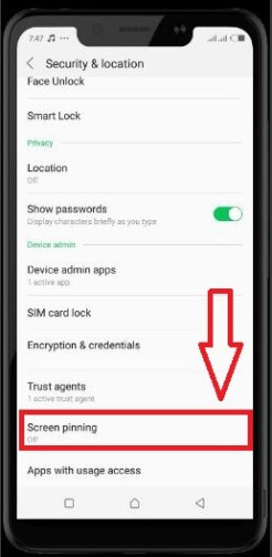 screen pining step 3 - How To Enable Screen Pining On Android