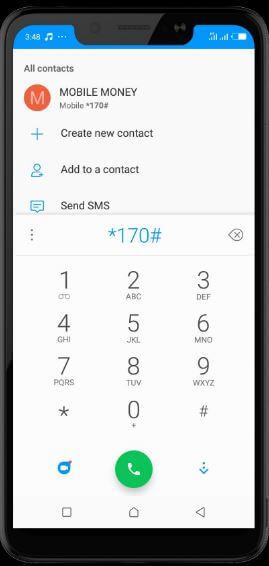mobile money short code *170#