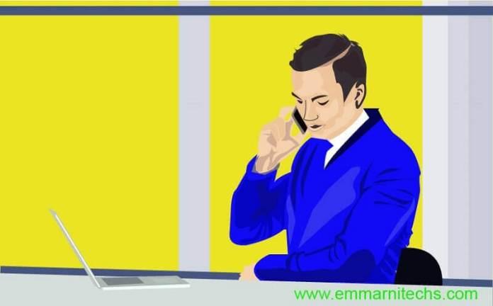 man making call illustrator
