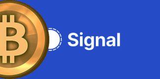 signal app and bitcoin
