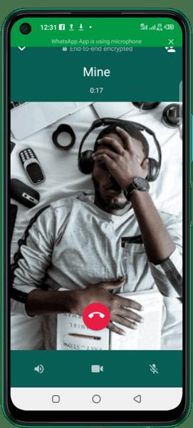 a call on whatsapp messenger