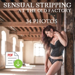 Sensual stripping at the old factory