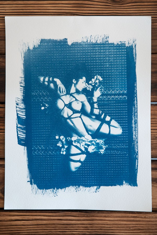 """Shibari : Cyanotype - Ropes & Flowers"""