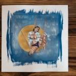 """""""Shibari : Cyanotype colorisé – Golden"""" – 29x29cm"""
