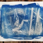 """""""Shibari : Cyanotype – Jeux à la bambouseraie"""" 21x30cm"""
