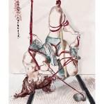 Shibari du soir – Aquarelle et encres (Reproduction)