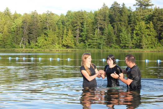 Special baptism moment