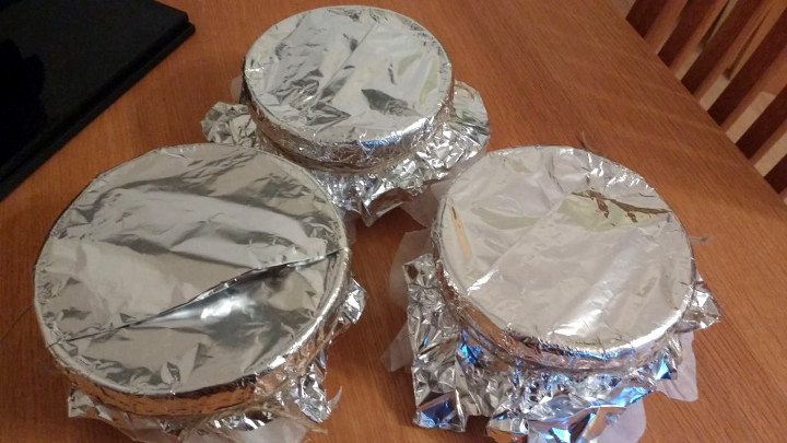 Gluten Free Christmas Puddings in foil