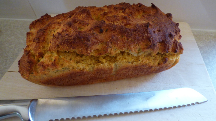 gluten free feta and herb loaf