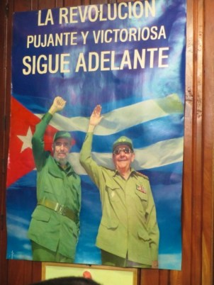 A common sight in Cuban streets and shops. Many book shops still stock the same range of books - with the same focus as this typical poster.