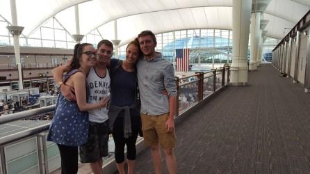 My airport drop-off crew