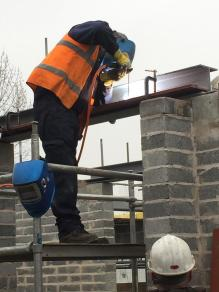 Week 24 Bricklaying completed on ground floor and steel structures going in (Copy)
