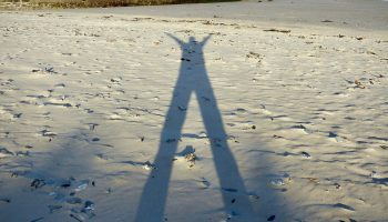 a shadow of a man