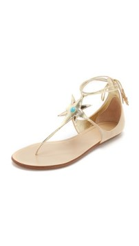 Poppy Delevingne X Aquazzura sandals.