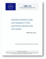 EMMC-CSA: White paper for business models and sustainability for materials modelling software