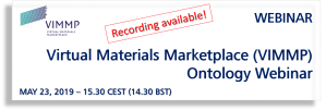 EMMC feat. the Virtual Materials Marketplace (VIMMP) Ontology Webinar