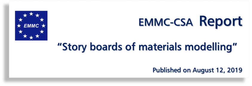 "EMMC-CSA Report on """"Story boards of materials modelling"""