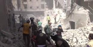 Alep-Bostan-Al-Qasr-28-av-2016--Attaque-de-l'aviation-du-régime-11