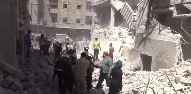Alep-Bostan-Al-Qasr-28-av-2016--Attaque-de-l'aviation-du-régime-13