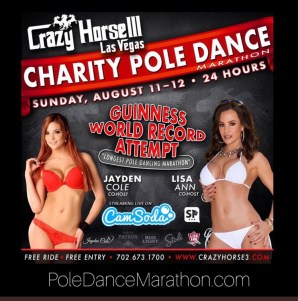 Lisa Ann Pole Dancing Marathon Crazy Horse August 11