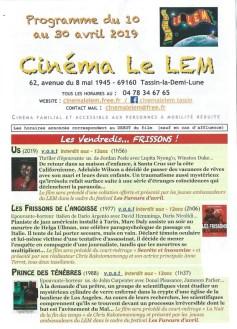 Programme Cinéma Le Lem