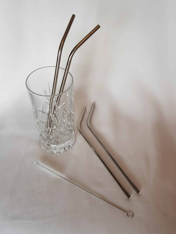 steel straws with brush