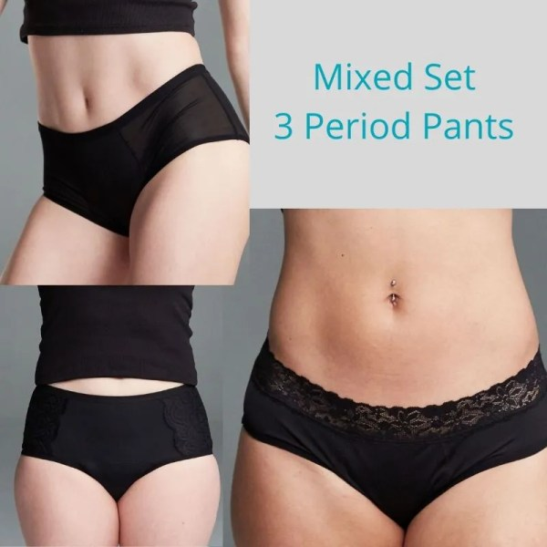 mixed set of hey girls period pants