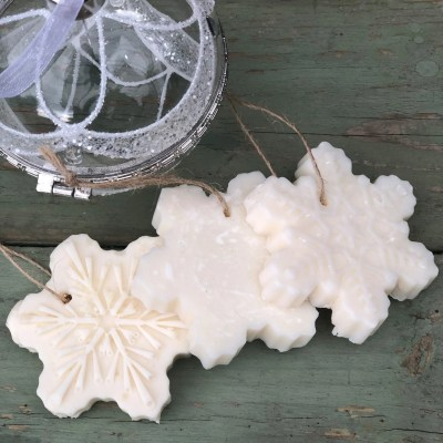 hanging snowflake soap