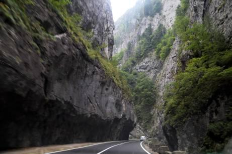 Driving through rock
