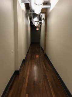 Hallway leading to Paskal Rudnicke Casting offices in Chicago, Illinois.