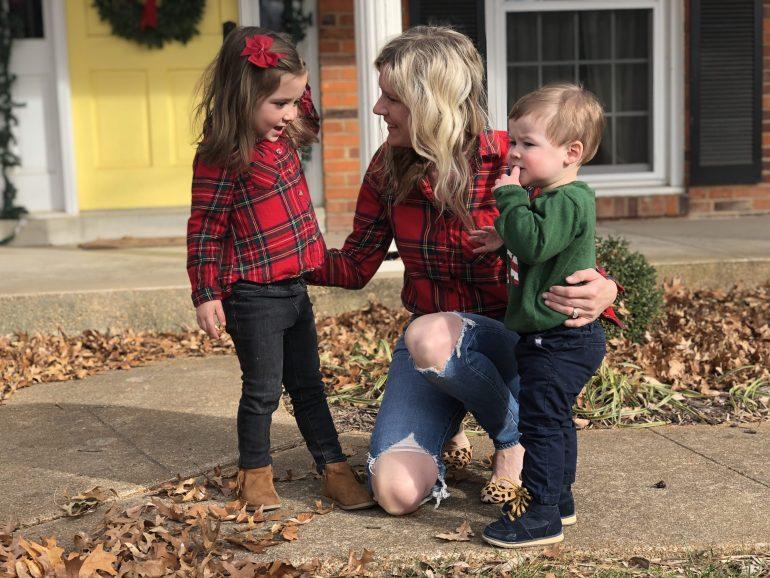 toddler red plaid shirt