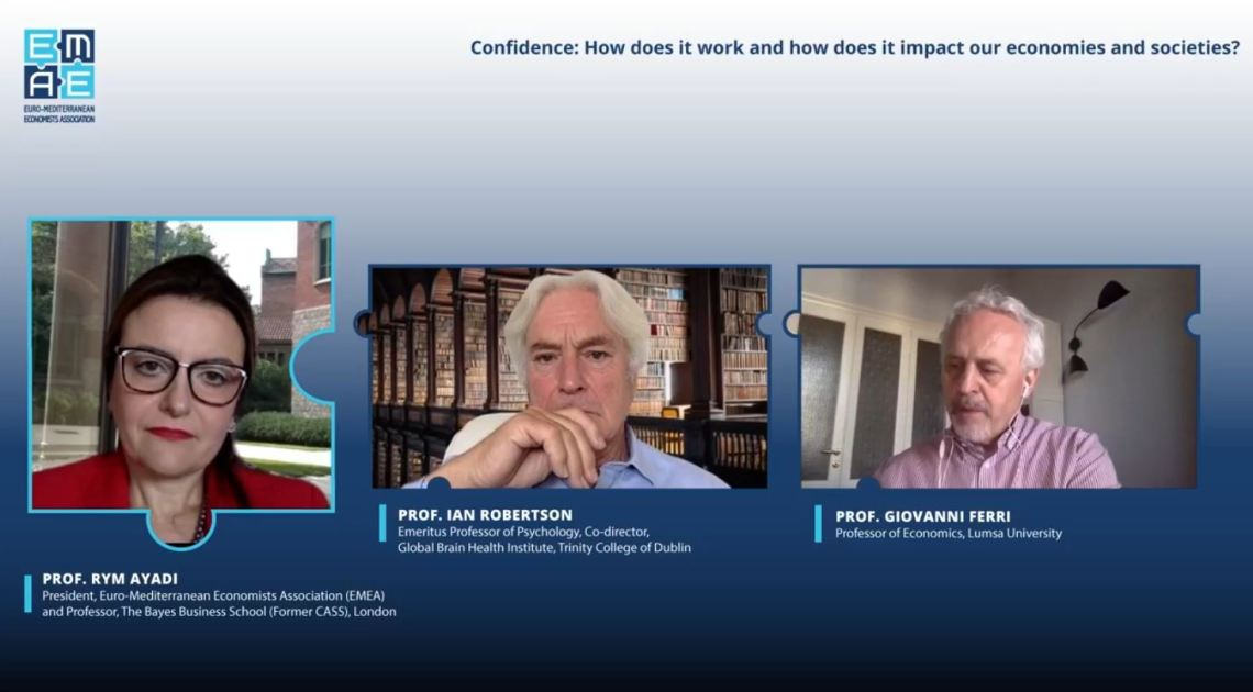 """EMEA Webinar """"Confidence: How does it work and how does it impact our economies and societies?"""" completed successfully"""