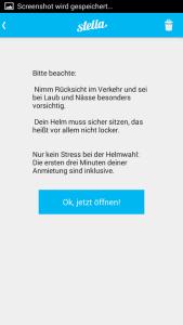 Hinweis zum angepassten Fahren in der App