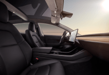 Quelle Tesla Model 3 - Interior Dash - Profile View