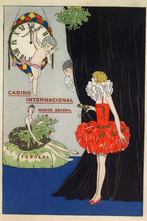 Menu do Reveillon 1930-31 no Casino Internacional do Monte Estoril