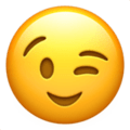 Winking Face on Apple iOS 11.2 Coussin emoji, signification smiley, signification emoji