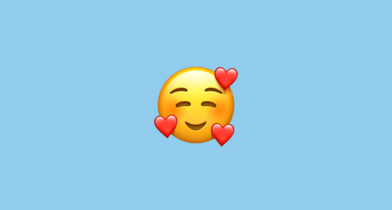 🥰 Smiling Face With 3 Hearts Emoji