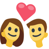 Download Couple with Heart Emoji on Facebook 2.2