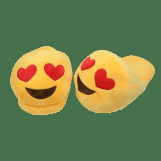 Emojitofflor med hjärtformade ögon