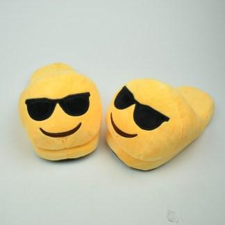 Emojitofflor som är coola med solglasögon