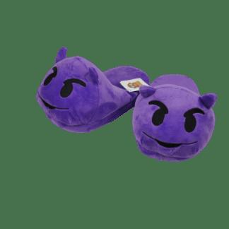 Emojitofflor som är en lila djävul