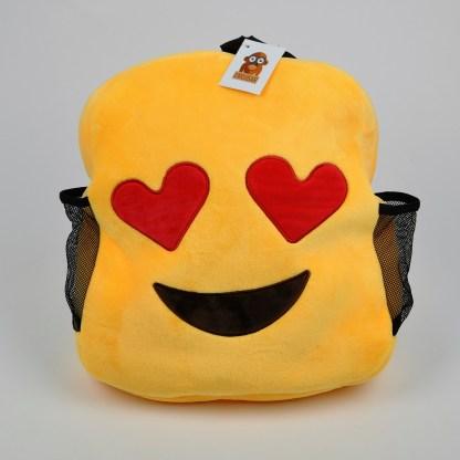 Emojiryggsäck med hjärtformade ögon