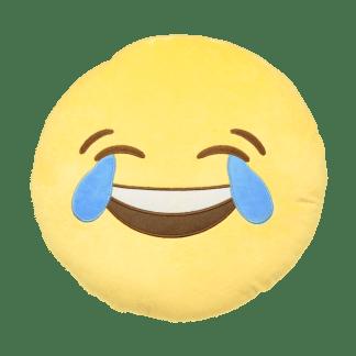 Emojikudde med tårar av glädje