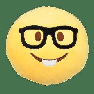 Emojikudde som är en nörd