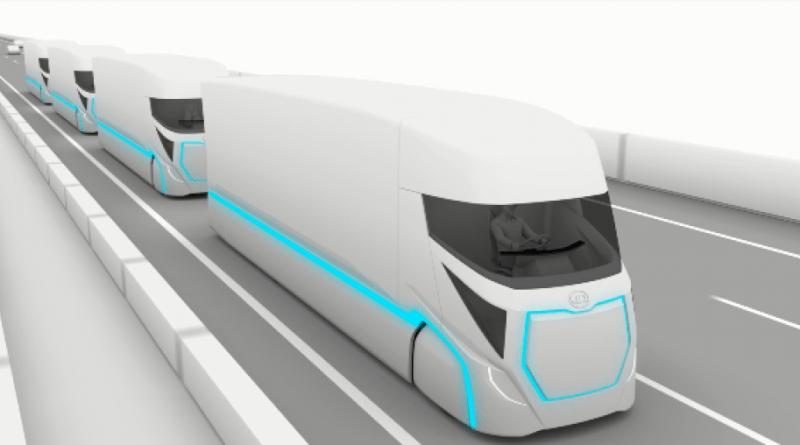 Ud_trucks --_innovation_road_map_for_electric_automated_trucks - Autonom Truck, Roboter Truck - Platoon Trucks - Bild UD ---