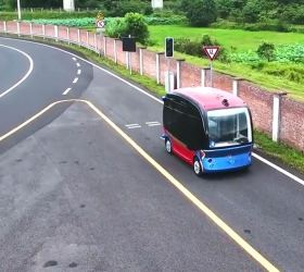 Apolong, Baidu, Apollo - Bild 4 , Autonom Bus, China - on road - Beiragsdbild für emoove.net