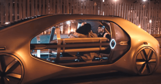 Renault - EZ Go , EZ Ultimo, Blick in den futuristischen Innenraum, Concept car, Tolle Studie - Foto Renault
