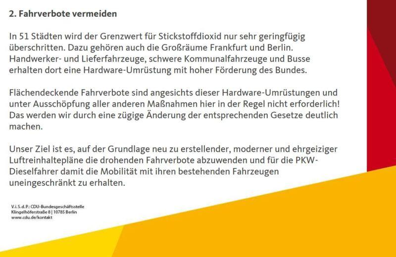 Screenshot CDU zur Dieselbetrug vom 24.10.2018