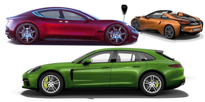 Elektro Sportwagen - Flyer - ausgeschnitten --- elektro-sportwagen