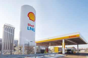 Flüssiggas Tankstelle - LNG - Liquid nature gas - Station in Rotterdam